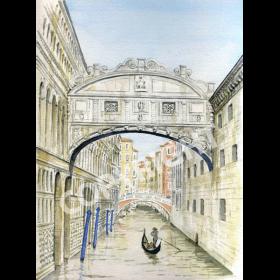 The Bridge of Sighs Venice